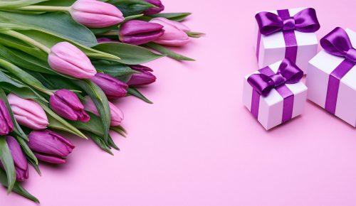 fresh-rozovye-love-bant-romantic-pink-tiulpany-tulips-gift-2